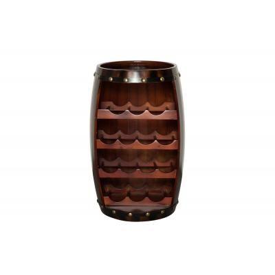 Tömör fenyőfa bortartó 60 cm, kávébarna - BEAU CHAIS